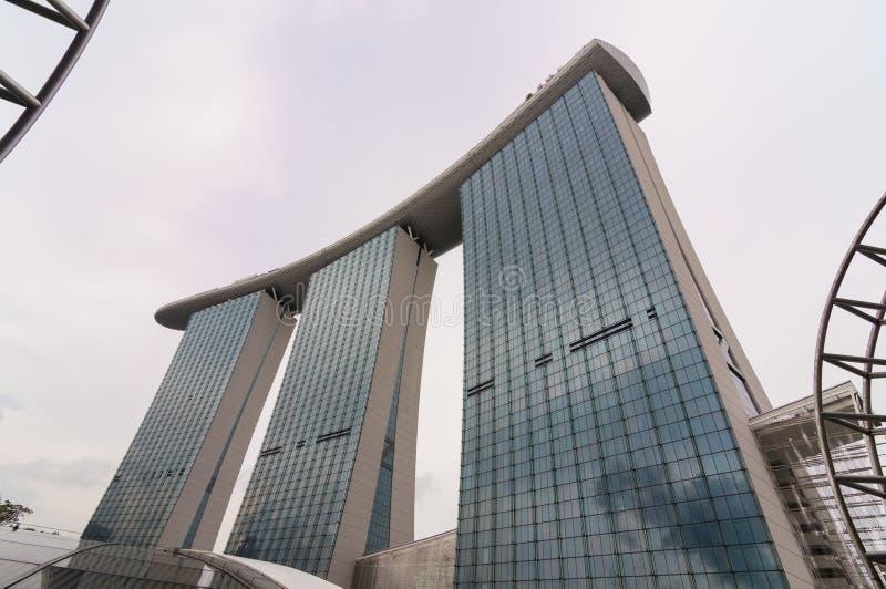 Singapur - Juni 13,2014: Marina Bay Sands Hotel lizenzfreie stockfotografie