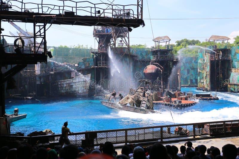 SINGAPUR - 21. JUNI 2014: Universal Studios Singapur ist sie lizenzfreie stockfotos