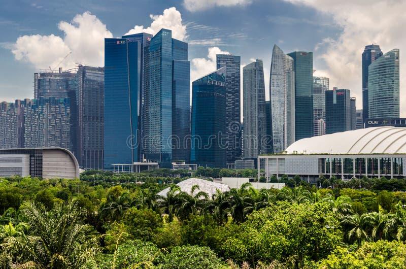 Singapur linia horyzontu podczas słonecznego dnia obrazy royalty free