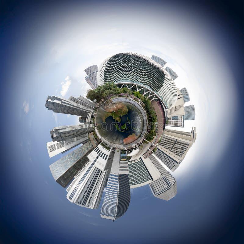 Singapur linii horyzontu miniplanet obrazy stock