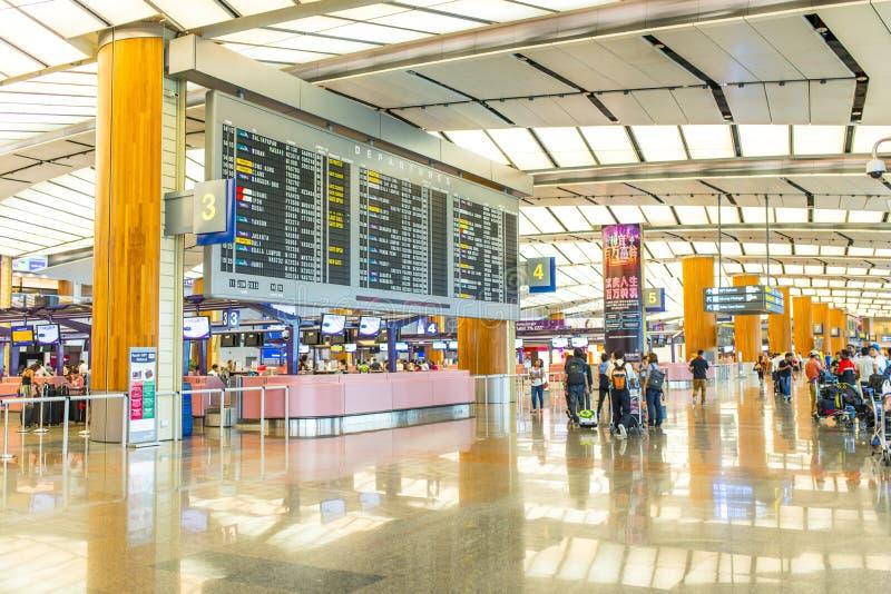 Singapur lotnisko zdjęcie stock