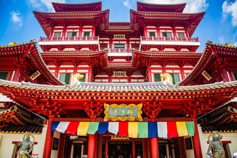 SINGAPUR, SINGAPUR - MÄRZ 2019: Buddha Tooth Relikt Tempel in Singapur stockfotos