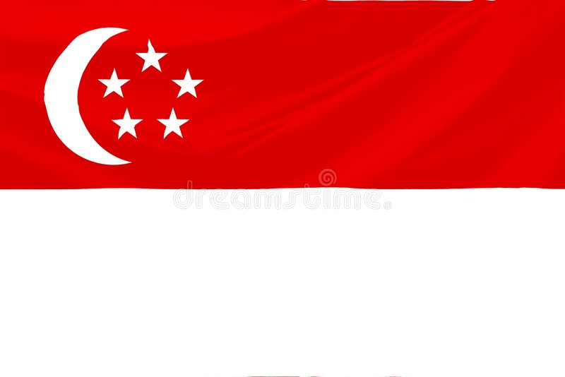 Singapur-Markierungsfahne stock abbildung