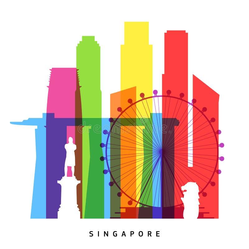 Singapur-Marksteine vektor abbildung