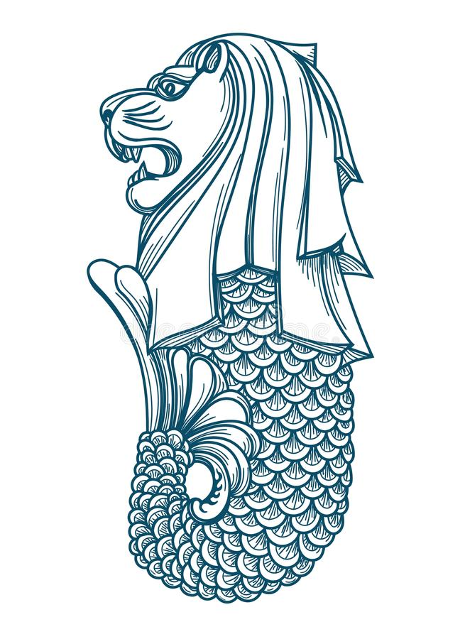 Singapur-merlion Ikone vektor abbildung