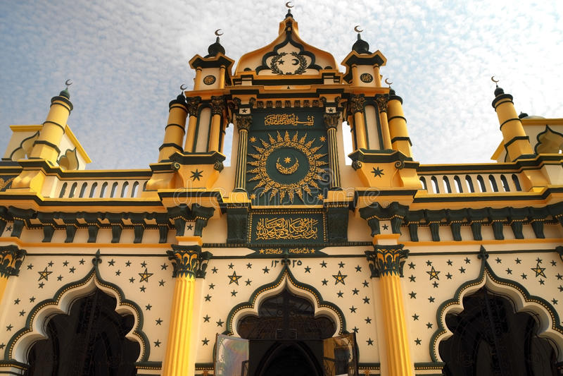 Singapur - mezquita de Masjid Abdul Gaffoor fotos de archivo libres de regalías