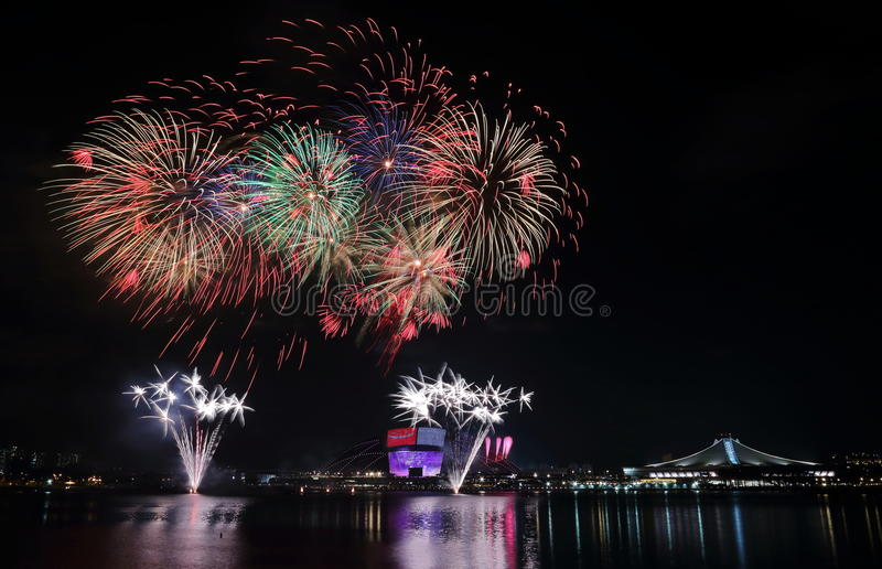 Singapur NDP fajerwerki 2016 2 obraz royalty free