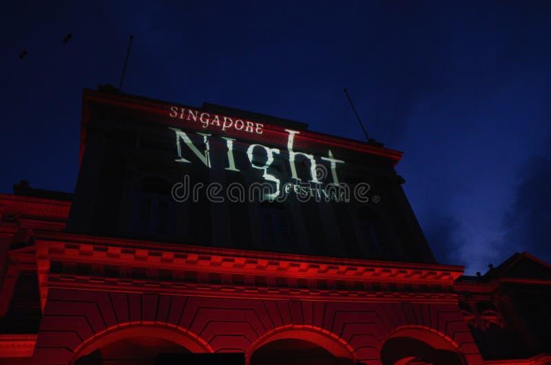 Singapur nocy festiwal 2014 przy muzeum narodowym obrazy royalty free