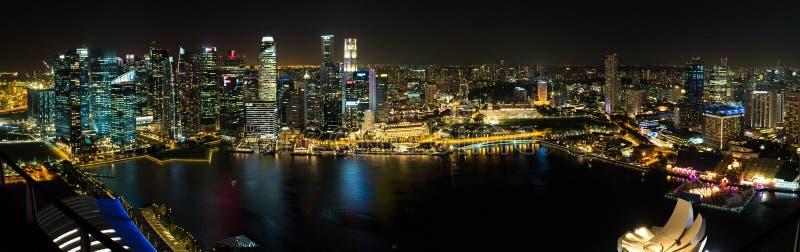 Singapur nocy krajobraz fotografia royalty free