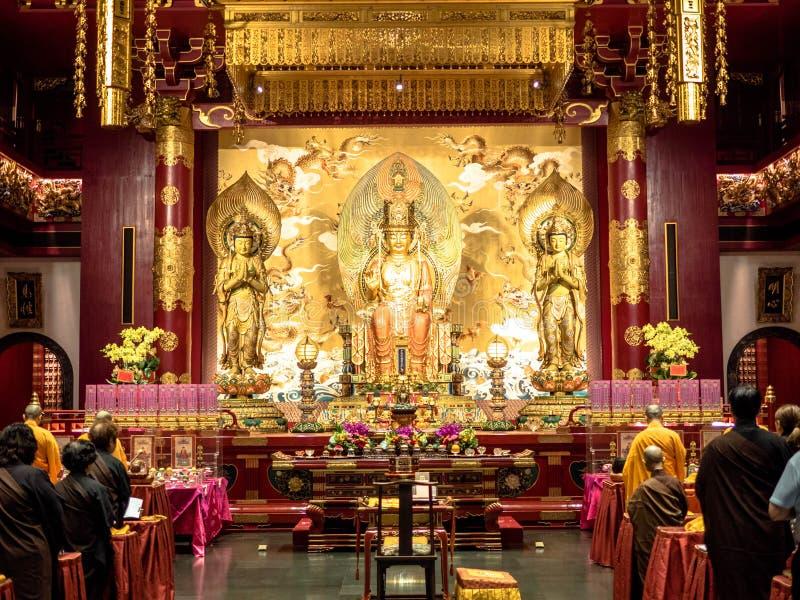 Singapur, Nov - 24, 2018: Buddha z?bu relikwii muzeum w Chinatown okr?gu i ?wi?tynia Buddha z?bu relikwii ?wi?tynia jest a zdjęcia royalty free