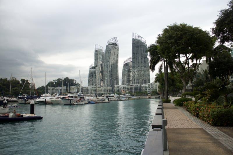 SINGAPUR - 22. November 2014: Jachthafen an Keppel-Bucht Jachthafen bei Keppel stockfotografie