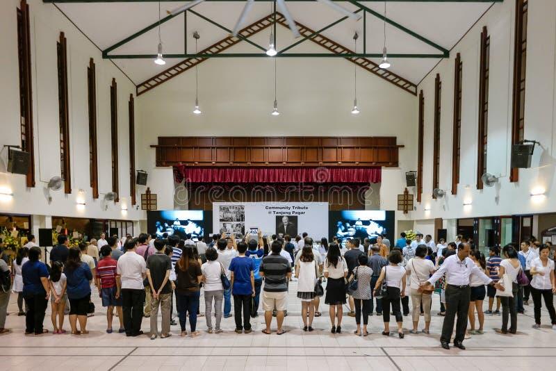 Singapur Opłakuje omijanie Mr Lee Kuan Yew obrazy royalty free