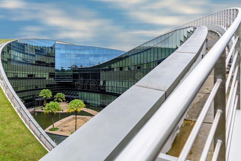 SINGAPUR, PAŹDZIERNIK - 24, 2016: Nowożytny architektoniczny budynek N zdjęcia stock