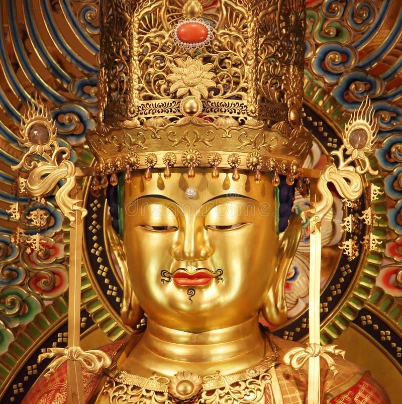 Singapur, Październik 16th 2015 -: Portret główna Buddha statua w Buddha zębu relikwii świątyni zdjęcie stock