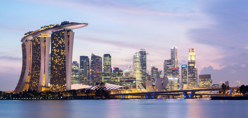 Singapur panorama fotografia royalty free