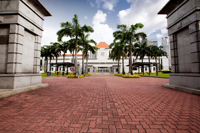 Singapur-Parlament lizenzfreie stockfotos