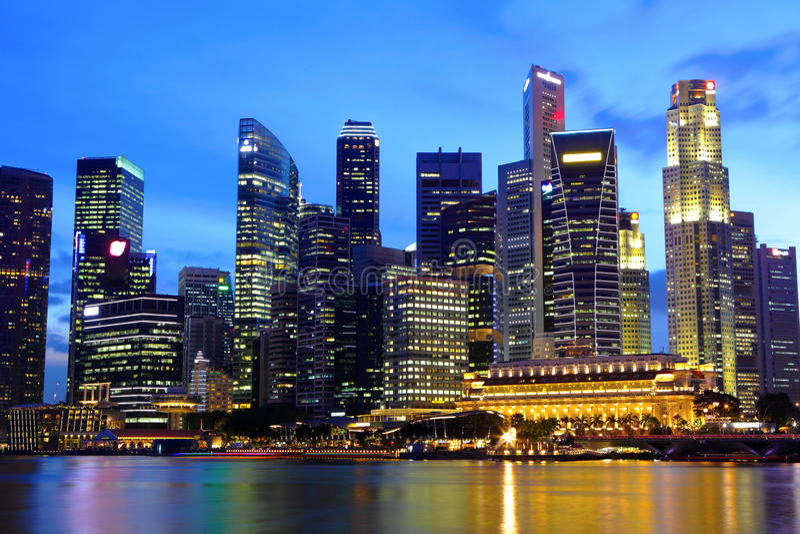 Singapur pejzaż miejski obraz stock