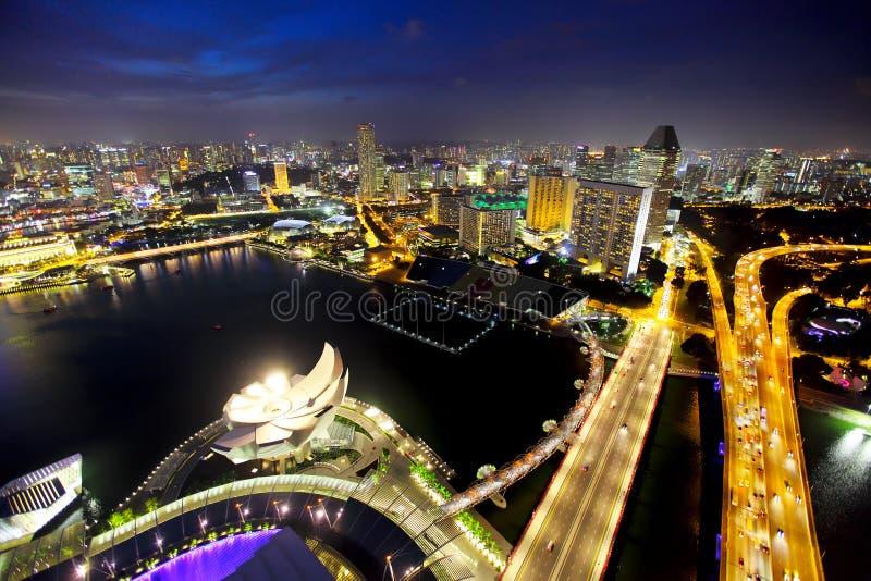 Singapur pejzaż miejski obrazy royalty free