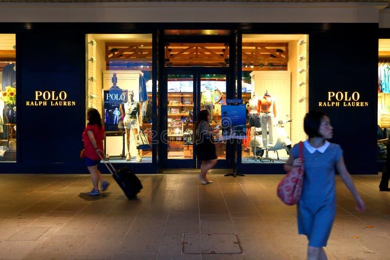 Singapur: Polo Ralph lauren sklep detalicznego fotografia stock
