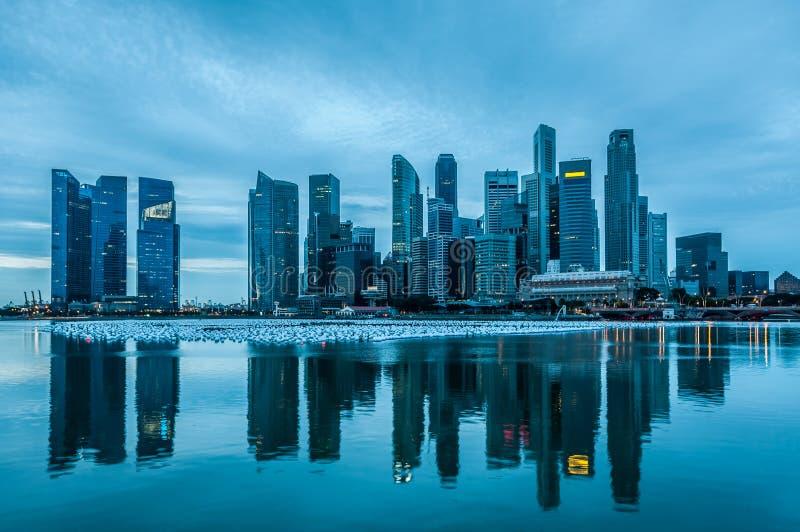 Singapur przy świtem zdjęcie royalty free