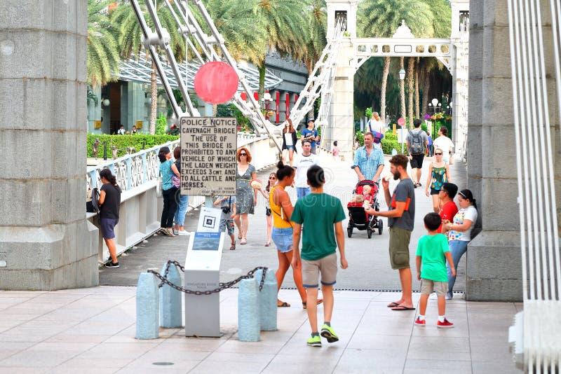 Singapur: Puente de Cavenagh fotografía de archivo libre de regalías