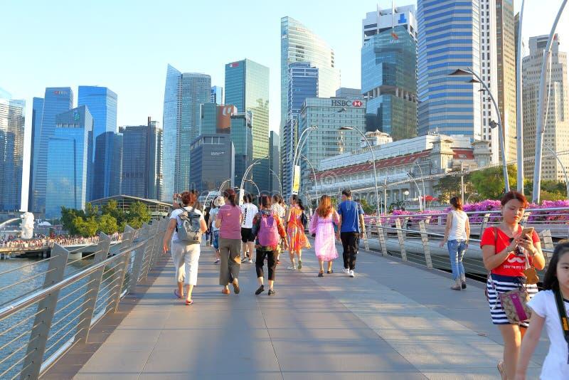 Singapur: puente del jubileo fotografía de archivo libre de regalías