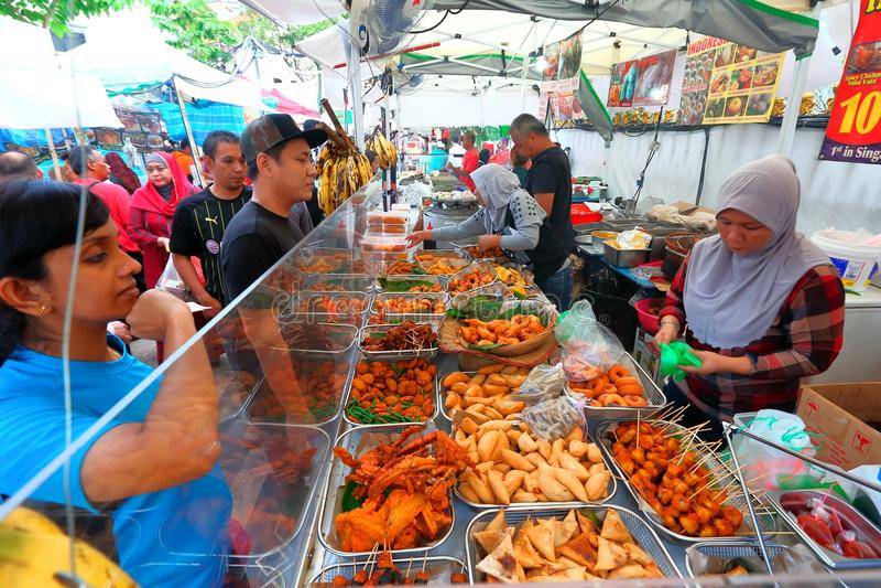 Singapur: Ramada-Bazar stockfotos