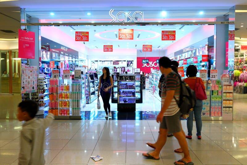 Singapur: SaSa-Kosmetikspeicher stockfotos