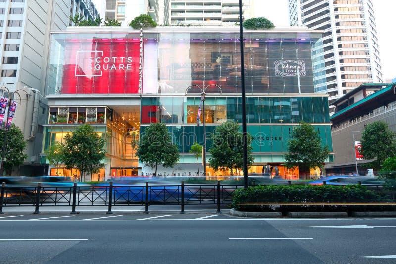 Singapur: Scotts kwadrat zdjęcie stock