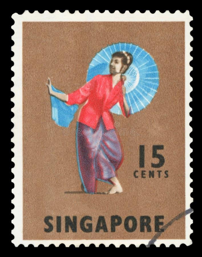 SINGAPUR - Sello imágenes de archivo libres de regalías