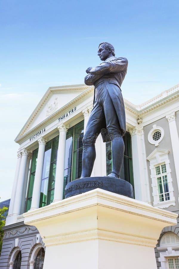 Singapur, sir Stamford Raffles statuę obraz royalty free