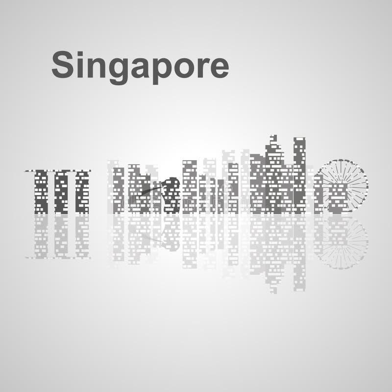 Singapur-Skyline für Ihr Design stockbild