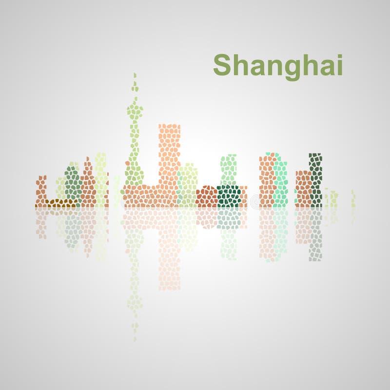 Singapur-Skyline für Ihr Design lizenzfreie stockbilder