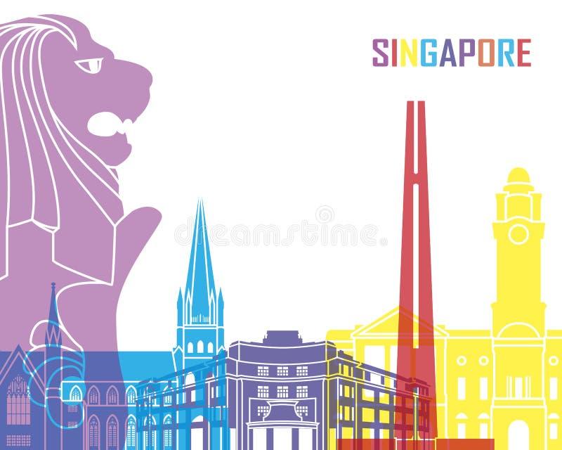 Singapur-Skylineknall lizenzfreie abbildung