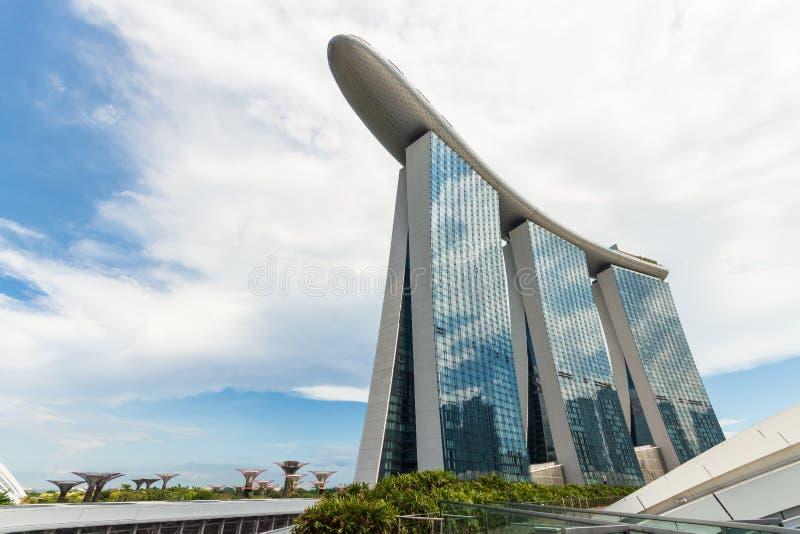 Singapur-Stadtbild in der Tageszeit Ameisenaugenansicht stockbild