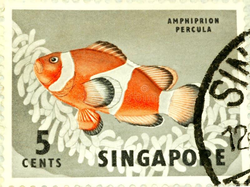 Singapur-Stempel lizenzfreies stockfoto