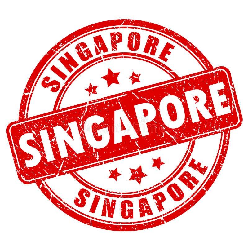 Singapur-Stempel stock abbildung