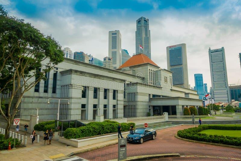 SINGAPUR SINGAPUR, STYCZEŃ, - 30, 2018: Centrum biznesu w urzędu miasta terenie, Singapur w mieście Singapur obrazy royalty free
