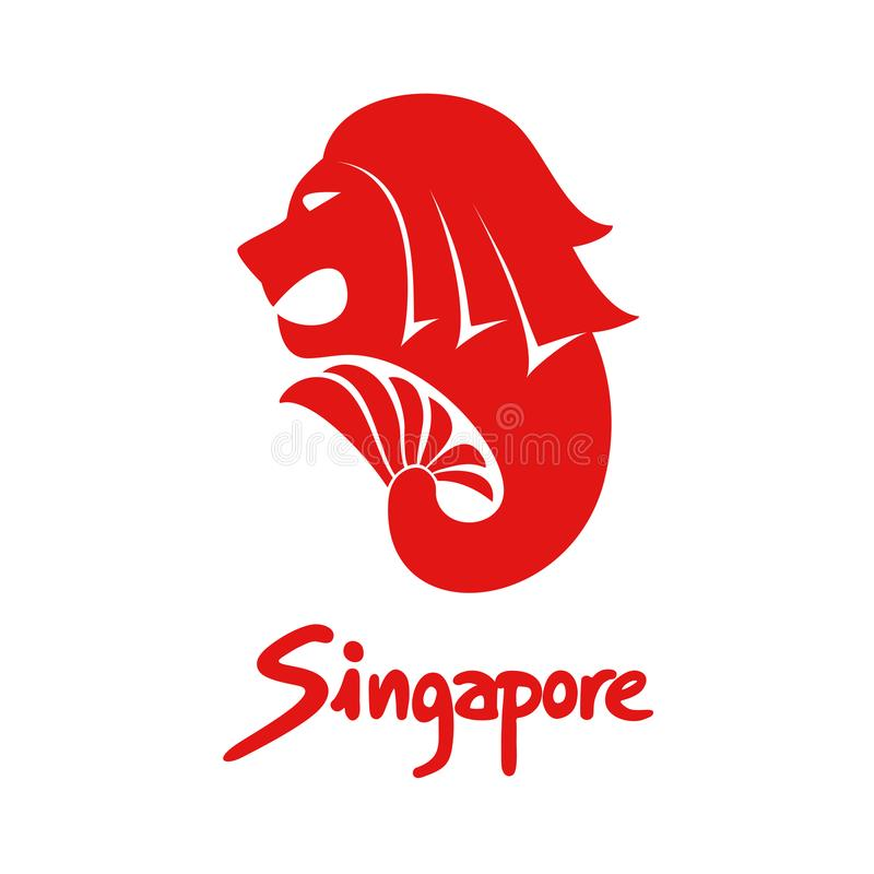 Singapur-Symbol lizenzfreie abbildung