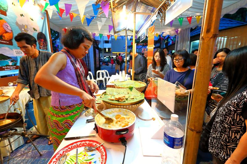 Singapur: Tajlandzki festiwal zdjęcia stock