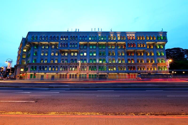 Singapur: Tarde de Mica Building In The imagenes de archivo