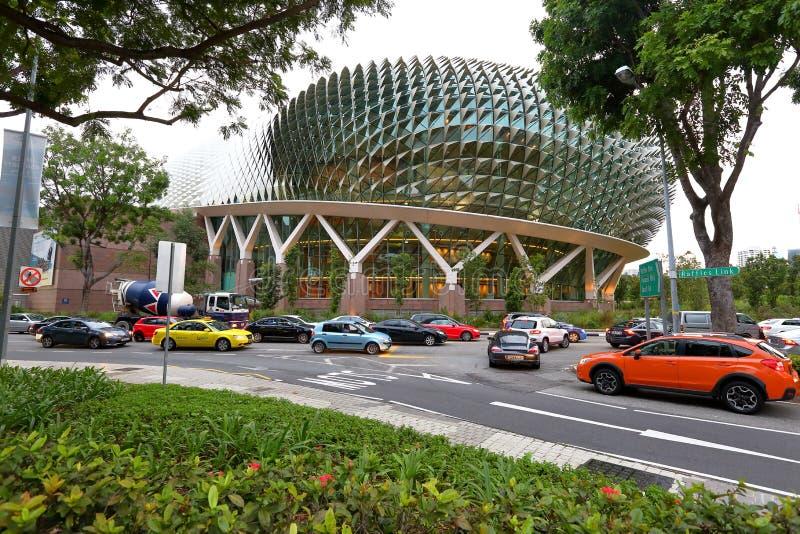 Singapur: Teatros de la explanada en la bahía fotos de archivo libres de regalías