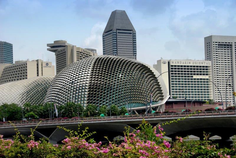Singapur: Teatros en la explanada fotos de archivo