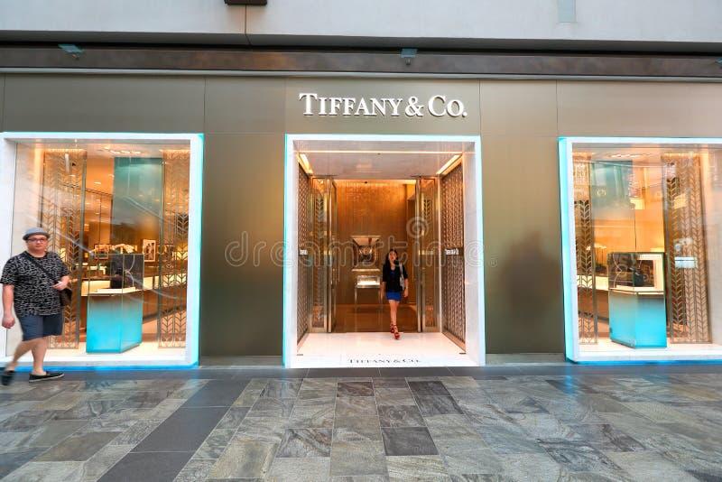 Singapur: Tiffany & Co fotografia royalty free