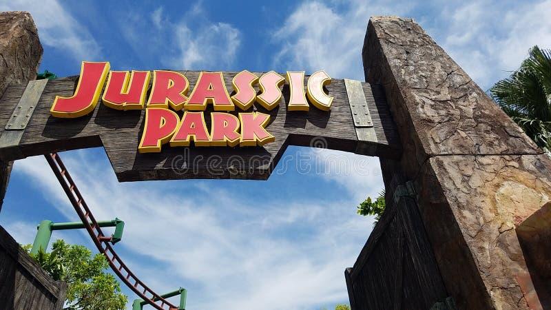 Singapur-Universalität Jurassic Park stockbilder