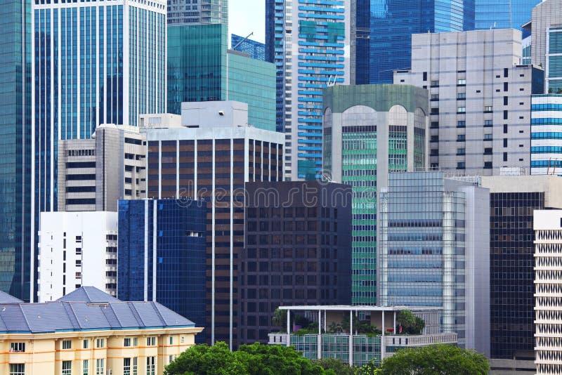 Singapur-Unternehmensgebäude lizenzfreie stockbilder