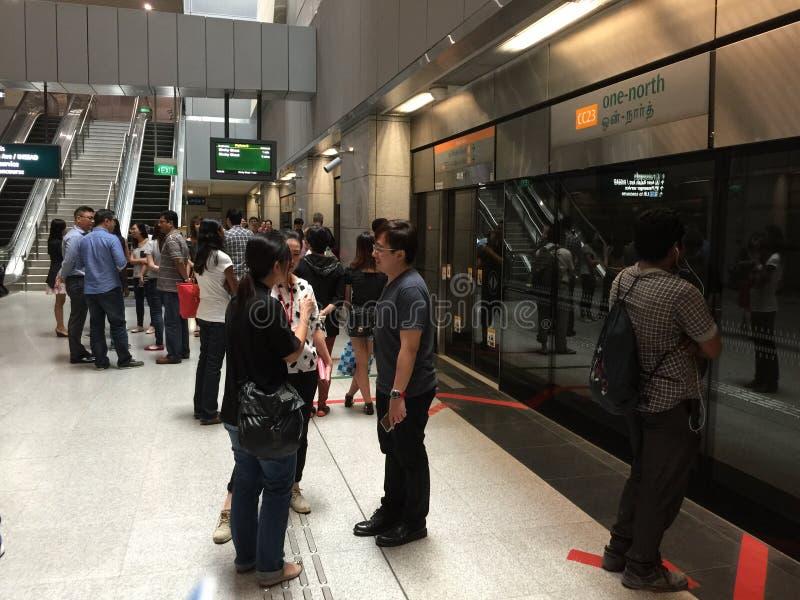 Singapur Untertagemrt-Station lizenzfreies stockfoto