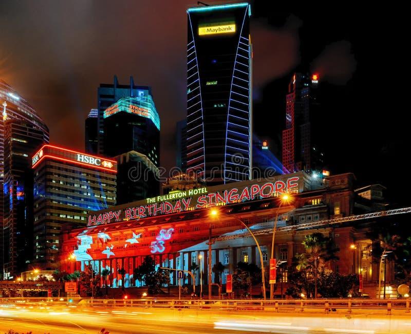 Singapur urodziny SG50 Jubileuszowy świętowanie zdjęcie royalty free