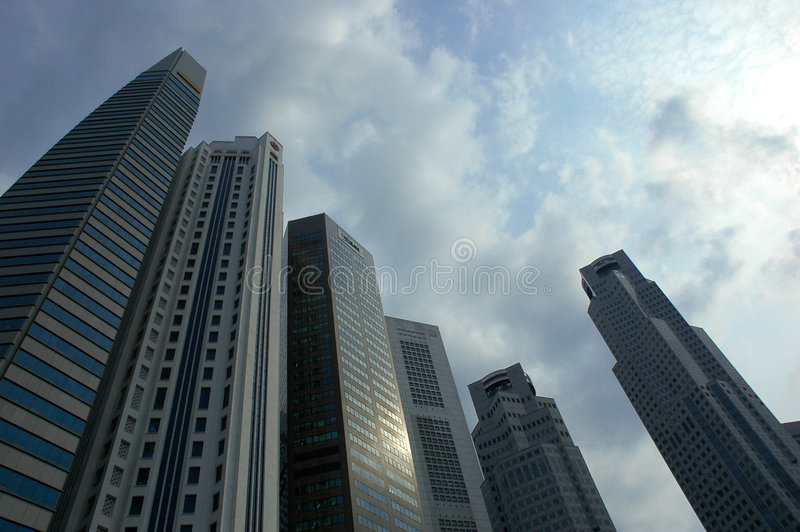Singapur-Wolkenkratzer lizenzfreie stockbilder