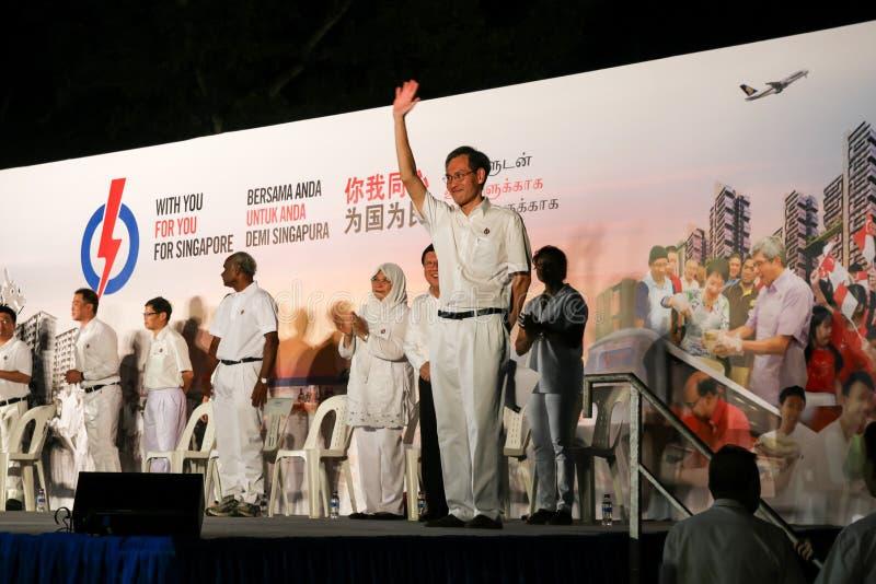 Singapur wybór powszechny papki 2015 wiec fotografia stock